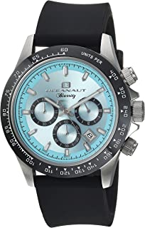 Oceanaut Men's Biarritz Stainless Steel Quartz Watch with Rubber Strap, Black, 22.8 (Model: OC6111R)