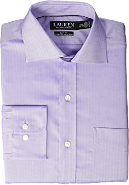 Non-Iron Slim Fit Stretch Herringbone Dress Shirt