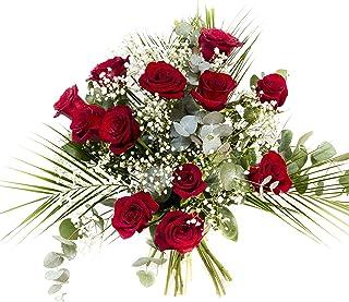 RAMO DE 12 ROSAS rojas NATURALES - ENTREGA EN 24 HORAS - Flores Frescas