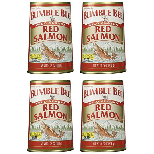 Bumble Bee Alaska Sockeye Red Salmon, 14.75-Ounce Cans (Pack of 4)