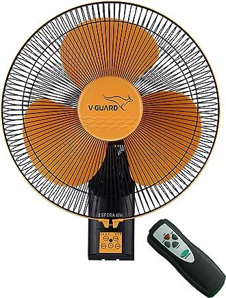 V-Guard Esfera RW 16 Wall Fan (RPM 1350; Orange, Black)