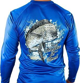 All-American Fishing Ultimate Dri Fit Fishing Shirt UPF 50+ Men's Long Sleeve