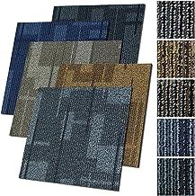 Design tapijttegels Andorra 50x50 cm zelfliggend - 1 m² set - duurzaam tapijt vloerbedekking met hoogwaardige lussenpool -...