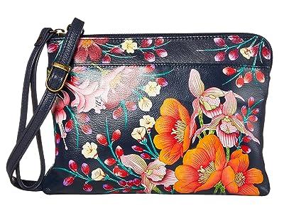 Anuschka Handbags Three-In-One Clutch 667 (Moonlit Meadow) Handbags