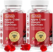 Apple Cider Vinegar Gummies with The Mother for Weight Control Vitamin B12, B9, Pomegranate, 1000mg Gummy Alternative to A...