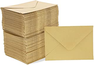 Sustainable Greetings Mini Envelopes for Gift Cards (200 Count) Gold