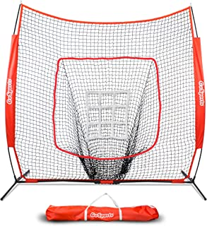 GoSports 7' x 7' Baseball & Softball Practice Hitting & Pitching Net..