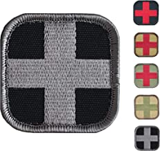 Medic Cross First Aid Morale Patch - Stitch/Embroidered - Perfect for IFAK Rip Away Pouch, EMT, EMS, Trauma, Medical, Paramedic First Response Rescue Kit - Tactical, Combat, Emergency (SWAT-Grey)