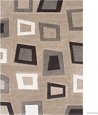 3cd9406863507 Allstar 5 X 7 Champagne Woven Abstract Modern Square Design Area Rug (5' 2