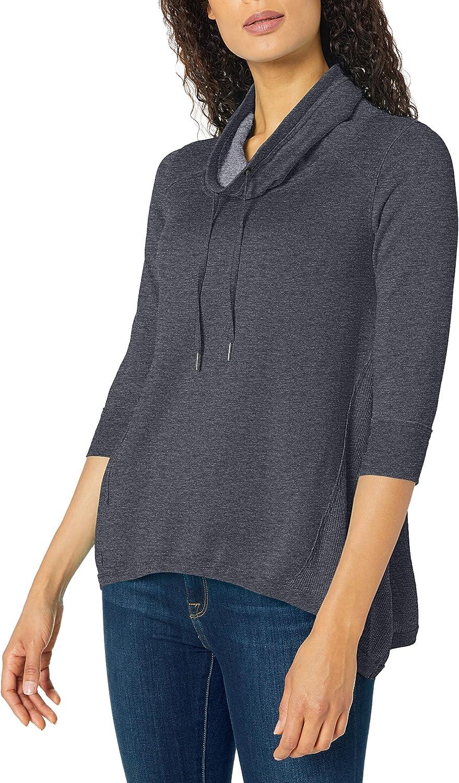 Calvin Klein NEW before selling Women's 3 New popularity 4 Neck Sleeve Cowl Pullover Sharkbite