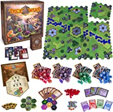 Wiz Dice Dice Wars: Heroes of Polyhedra Tabletop Fantasy Strategy Game, 2-4 Players - Giant Dice and Infinite Replay Value