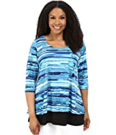 Karen Kane Plus - Plus Size Split-Back Top