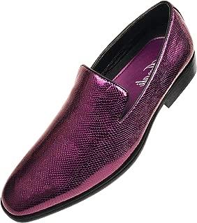 The Original Mens Shiny Black Exotic Printed Tuxedo Slip On Dress Shoe Style Durant Runs Large Size 1/2 Size Down