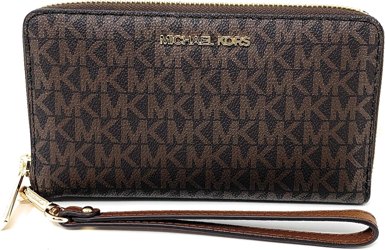 Michael Kors Free shipping New Popular brand in the world Women's Jet Set Travel Medium Hold Zip Around Phone