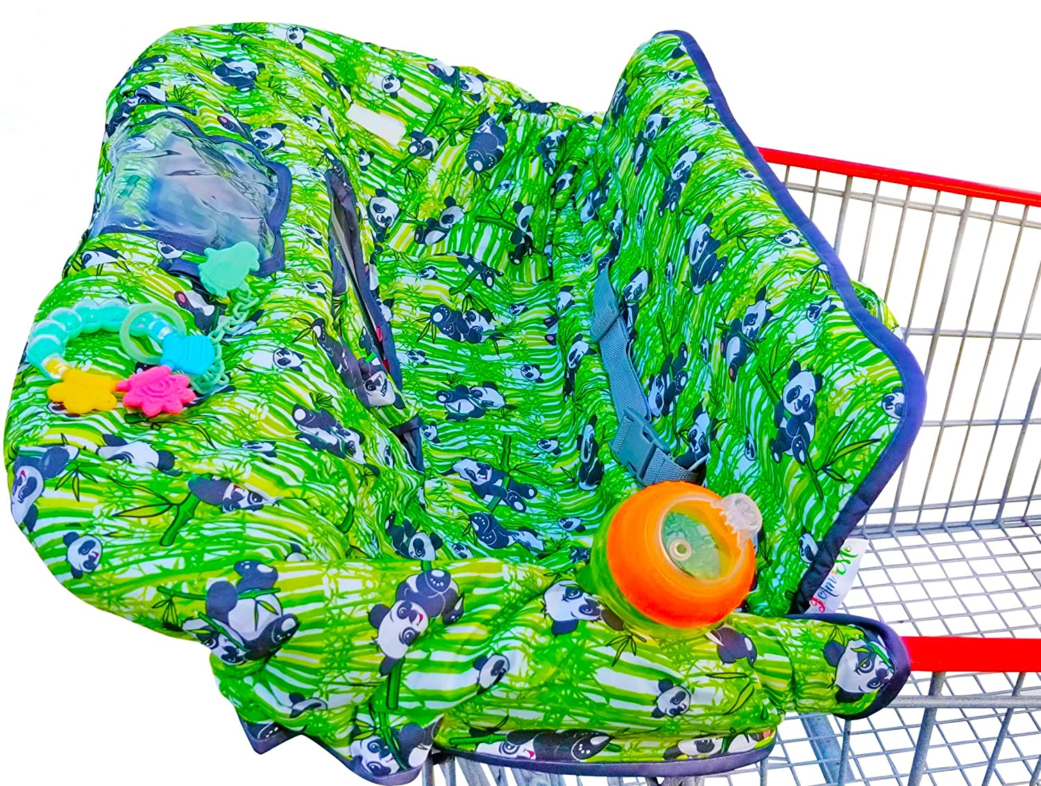 Extra Large Panda Shopping Cart Cover for Babies - 2 in 1 High Chair and Shopping cart Cover with Safety Harness - New and Updated Design