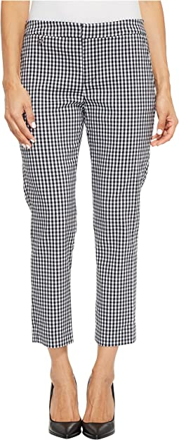 Petite Gingham Skinny Stretch Pants