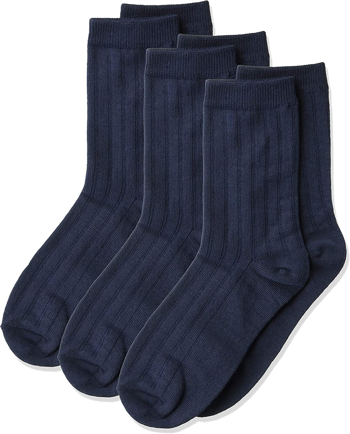 Jefferies Socks Little Boys' Crew National products Three-Pack Sock Ribbed List price