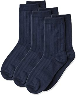 Jefferies Socks Big Boy's Rib Dress Crew Socks (Pack of 3)
