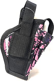 Pro-Tech Outdoors Ladies Here's One Just for You. This Pink Camo Holster is a Belt and Clip on Holster, is for Right or Left Hand Use. This Pink Gun Holster Fits M&P Shield 9mm