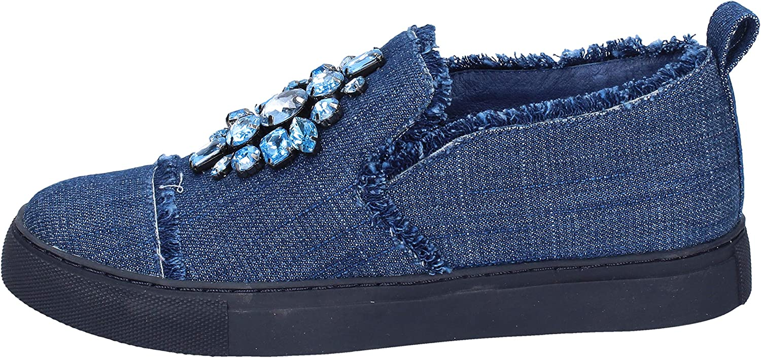 SARA LOPEZ Loafers-shoes Womens bluee