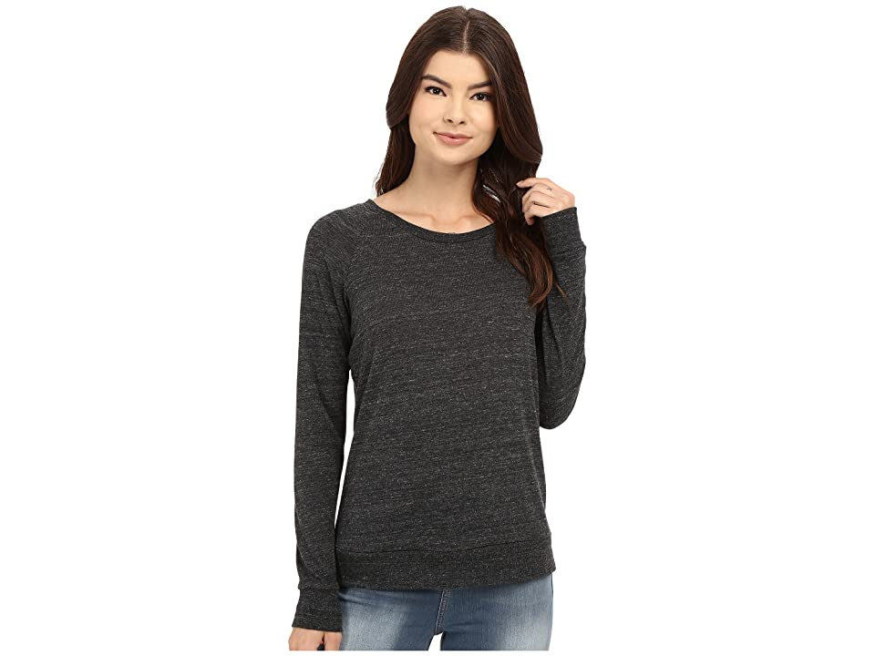 Alternative Eco-Heather Slouchy Pullover (Eco Black) Women