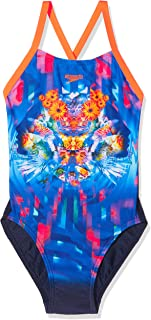 Speedo Dreamscape Fusion Placement Digital Crossback, Traje de Baño para Niñas