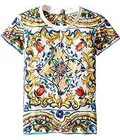 Dolce & Gabbana Kids - Escape Maiolica T-Shirt (Toddler/Little Kids)