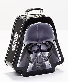 Vandor 52348 Star Wars Darth Vader Shaped Tin Tote with Embossing, Black/White