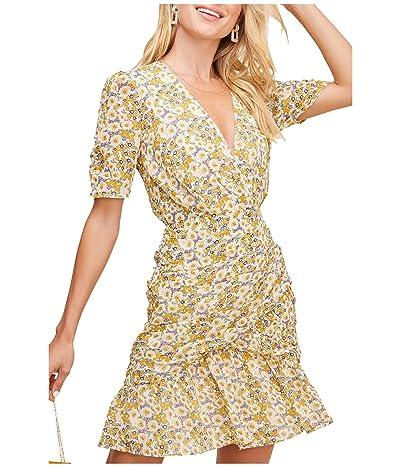 ASTR the Label Lucky Me Dress (Mustard Blue Daisy Floral) Women