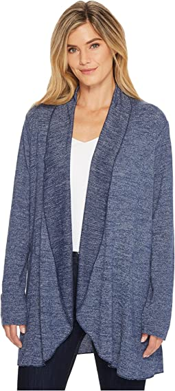 Lightweight Heather Sweater Knit Princess Seamed Cardigan