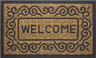 "Achim Home Furnishings COM1830SC6 Scrolls Coco Door Mat, 18 by 30"""