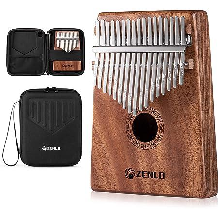 ZENLO カリンバ 17キー 親指ピアノ Kalimba 17 keys C調 指ピアノ アフリカ楽器 マホガニー製 フィンガーピアノ ポータブル チューニング可 初心者向け ハンマー・清掃クロス付き 演奏やすい EVA高性能収納
