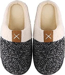 Mishansha Two-Tone Memory Foam Slippers, Unisex-Adulto