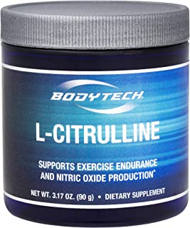 BodyTech Fermented LCitrulline 3000MG Supports Exercise Endurance Nitric Oxide Production (3.17 Ounce Powder)