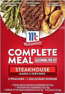 McCormick Steakhouse Complete Meal Seasoning Mix Kit, 1 oz
