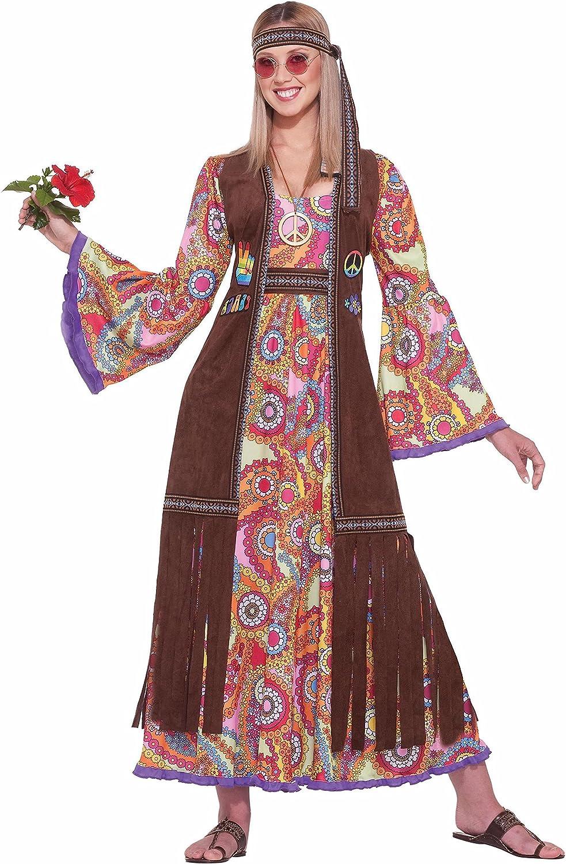 Hippie Washington Mall Love Child Adult Brown Standard Year-end gift Costume