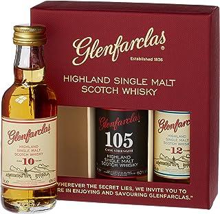 Glenfarclas Miniset 10 Jahre, 12 Jahre, 105 Jahre mit Geschenkverpackung Whisky 3 x 0.05 l