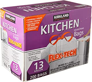 Member's Mark Power Flex Tall Kitchen Simple Fit Drawstring Bags (13 gal, 200 ct.)