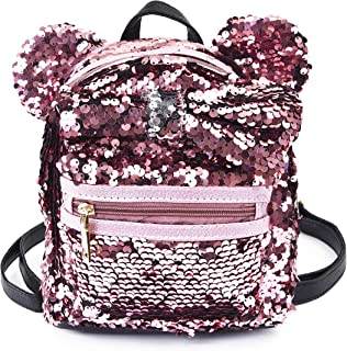 Sequin Backpack Cute Backpack Shoulder School Fashion Backpack Ears Bowknot Bag for Girls Women