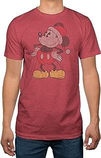 Mickey Mouse Santa Adult T-Shirt