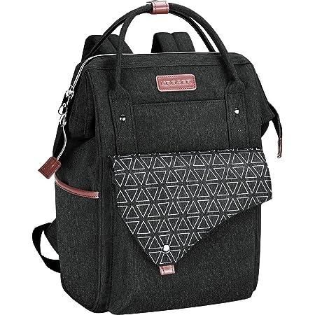 KROSER Rucksack Damen für Schule Laptop Rucksack 15,6 Zoll(39,6cm) Schulrucksack Stylischer Daypack wasserdichte mit USB-Ladeanschluss Tablet für Universität/Reisen/Frauen/Männer MEHRWEG