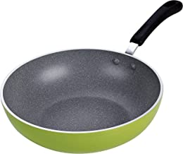 Cook N Home 12-Inch Nonstick Stir Fry Wok Pan, Green, 30cm