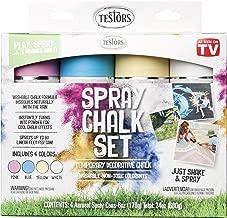 Testors 306006 Spray Chalk, 4 Color Kit, Assorted