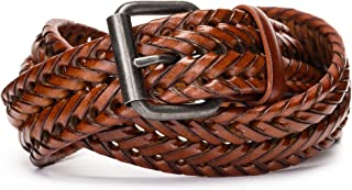 Sponsored Ad - Tanpie Fashion Men's Braided Belt Leather Strap for Jeans