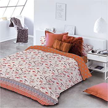 COTTON ARTean Funda Nordica Birds Cama de 150/160 ALGODÓN 100%: Amazon.es: Hogar
