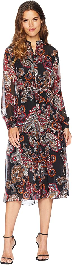 Trendsetter Paisley Midi Dress