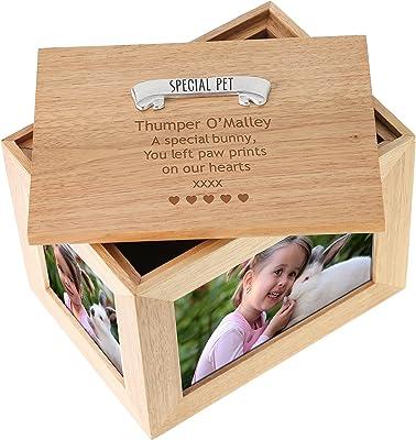 ukgiftstoreonline Large Personalised Baby Girl Rabbits Keepsake Box Design
