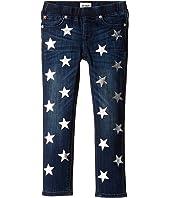 Hudson Kids - Five-Pocket Skinny with Foil Star Print Jeans in Sky Blue (Toddler/Little Kids)
