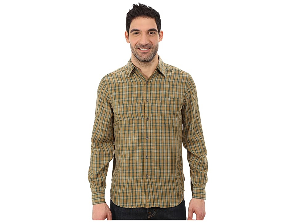 Royal Robbins Hemlock Herringbone Long Sleeve Shirt (Fatigue Green) Men