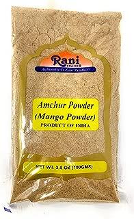 Rani Amchur (Mango) Ground Powder Spice 3.5oz (100gm) ~ All Natural, Indian Origin   No Color   Gluten Free Ingredients   Vegan   NON-GMO   No Salt or fillers
